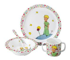 SET DE 4 PIECES PETIT PRINCE LA ROSE