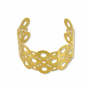 BRACELET MANCHETTE CERCLES OR GM